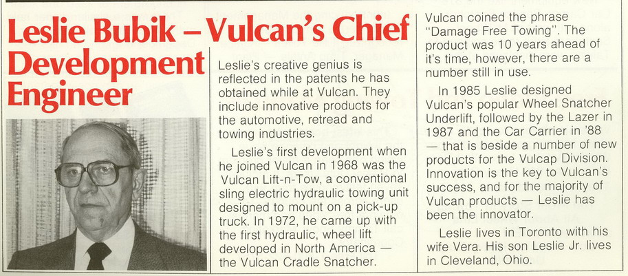 A picture of my dad in the Vulcan newspaper