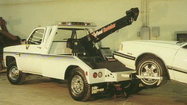 This tow truck could do both kinds of towing.