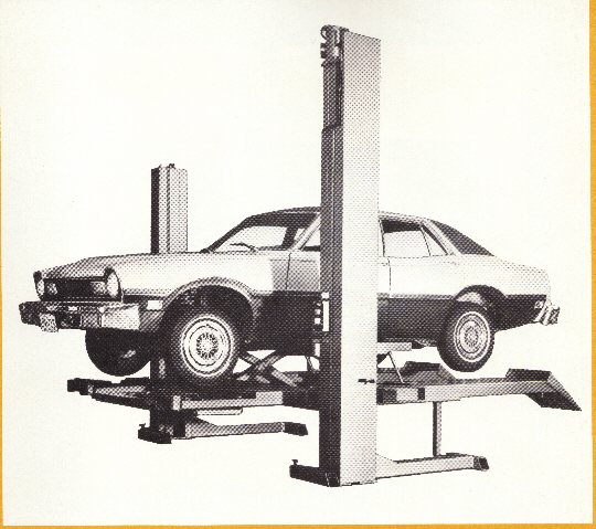 This was a car hoist which you could also do a front end alighnment