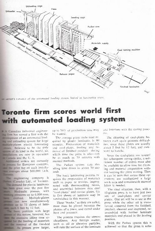 Here is an artical about the Lamination system my dad designed